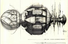 'Alien' concept-art – Syd Mead