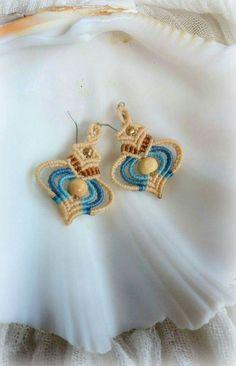 Aphrodite...Macrame earrings by Vaya...