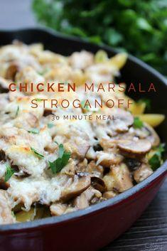 Chicken Marsala Stroganoff - 30 minute meal #WeekNightHero #Ad @Walmart