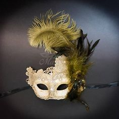 Our classic elegant resin with macrame lace mask is created for our High Fashion Collection line of new masks this season. The sparkling rhinestone details give this mask stunning and classical features. Wearing this classic Venetian resin mask to any events will guarantee an absolute