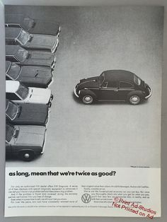1971 Volkswagen Double Page Print Ad VW Beetle by PrintAdStudios