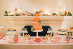 Bright & colourful sweet tablescape.