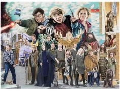 Friends and Foes Part One, The Friends of Harry Potter Hogwarts, Street Art, Harry Potter, Fandoms, Culture, Friends, Illustration, Movie Posters, Pictures