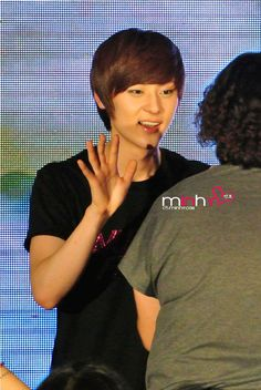 Minhyun is so cute here! - at Nu'est Face to Face in Malaysia