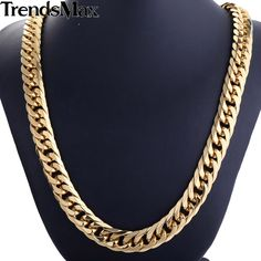Trendsmax Gold Plated Double Curb Link Rombo Fashion Mens Chain Boys 316L Stainless Steel Necklace HN57 HN58 //Price: $26.17 & FREE Shipping // Get it here ---> https://bestofnecklace.com/trendsmax-gold-plated-double-curb-link-rombo-fashion-mens-chain-boys-316l-stainless-steel-necklace-hn57-hn58/    #Wedding_jewellery