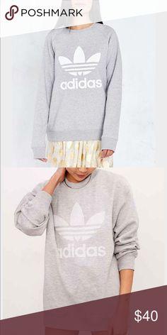 Medium Adidas Sweatshirt worn once Medium Adidas sweatshirt. Women's grey. Worn once. Offers welcome Adidas Tops Sweatshirts & Hoodies