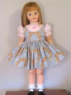 """Vtg Pattern Life Size Doll Clothes Dress Coat Hat ~ 32/"""" Penny Playpal 2yr"""