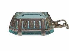 Platinum Art Deco Aquamarine Pendant - Lippa's Estate and Fine Jewelry
