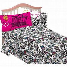 Disney Monster High Full Size Sheets Girls Scary Cute Sheet Set Double Bed ** Check out the image by visiting the link.