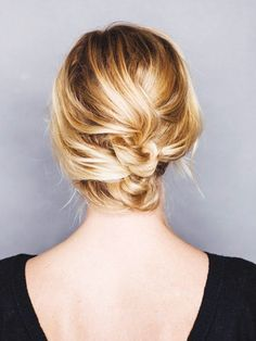 12+Incredibly+Chic+Updo+Ideas+for+Short+Hair+via+@ByrdieBeauty