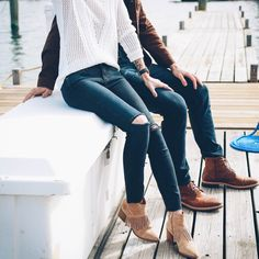 His & Hers: Weekend Denim | Prosecco & Plaid