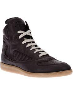 Maison Martin Margiela Branded Hi-top Sneaker - Farfetch.com