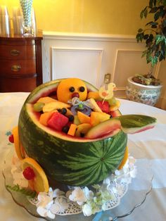 baby shower fruit bowl more baby showert baby showerssssss baby shower