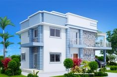 Alfonso – Four Bedroom 2 Storey Cool house Plan – Pinoy House Designs – Pinoy Ho… - Home & DIY Tiny House Cabin, Garden Living, Best House Plans, Tropical Houses, Cool House Designs, One Bedroom, Architecture, Future House, Home Goods