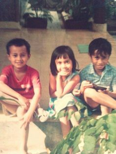 Me, my sister and my cousin back in 85