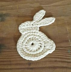 This listing is for a Crochet Coaster Pattern only and not the finished product.    This cute rabbit coaster will look great on your Easter breakfast table!   Make a few as Easter gifts for friends and family too!    The PDF pattern is clear and easy to follow but if you have any queries please don't hesitate to message me.    Skill level: Easy    Yarn required: Ribbon Yarn    Written in US standard terms.    ______________________________    The pattern is copyright to Angela Paul…