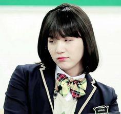 I love sassy Girl Suga/Yoongi! Bts Suga, Min Yoongi Bts, Bts Bangtan Boy, Jhope, Taehyung, Bts Girl, Bts Boys, Min Yoonji, Bts Face