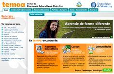 Temoa. Portal de recursos educativos abiertos. REAs, cursos, comunidades.
