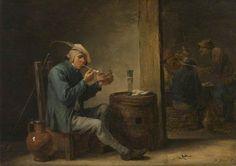 Peasant Smoking in an Interior (Flemish Pastimes, Interior)