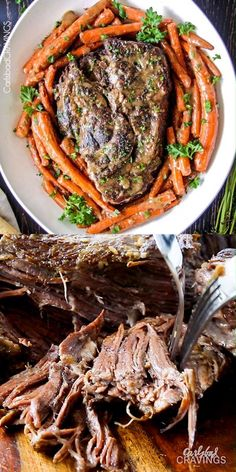 BEST Melt in Your Mouth Pot Roast and carrots with mouthwatering gravy is th., the BEST Melt in Your Mouth Pot Roast and carrots with mouthwatering gravy is th., the BEST Melt in Your Mouth Pot Roast and carrots with mouthwatering gravy is th. Crock Pot Recipes, Pot Roast Recipes, Slow Cooker Recipes, Chicken Recipes, Cooking Recipes, Recipe For Roast Beef, Best Chuck Roast Recipe, Tender Roast Recipe, Roast In Crockpot