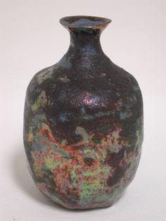 Beatrice Wood, Title: Dark Bronze Luster Vase, c. 1970