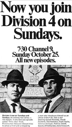 Ad Sun - Division 4 was a good old Aussie detective show on TV - pictured are Terence Donovan & Gerard Kennedy Australian Actors, Old Shows, Teenage Years, Old Tv, Classic Tv, My Memory, The Good Old Days, Back In The Day, Tvs