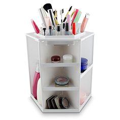 VENKON - Make Up Organizer Sortierkasten für Aufbewahrung von Kosmetik - 360 Grad drehbar - weiß Venkon http://www.amazon.de/dp/B01A945XZS/ref=cm_sw_r_pi_dp_JWPTwb1H48TMW