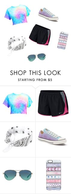 """Tie-die"" by elizabeth-trausch ❤ liked on Polyvore featuring NIKE, Converse, Tiffany & Co. and Casetify"