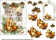 Christmas through the snowy window on Craftsuprint designed by Carol Smith - a decoupage sheet for Christmas which has a vintage church scene through a snowy window which is decorated with candles and baubles and finished off with a beautiful bow and holly trimmed swag. I have also included a matching gift tag thank you for looking please take a peek at my other items - Now available for download!