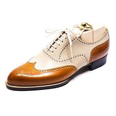Details about New Handmade men's white and tan shoes, spectator shoes for men dress shoes - Elegante Schuhe Tan Shoes, Leather Dress Shoes, Leather Dresses, Me Too Shoes, Shoe Boots, Oxford Shoes, Lace Up Shoes, High Ankle Boots, Suede Shoes