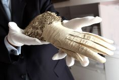 Queen Elizabeth 1 gloves are seen for the first time in public and on loan from the Dents private collection