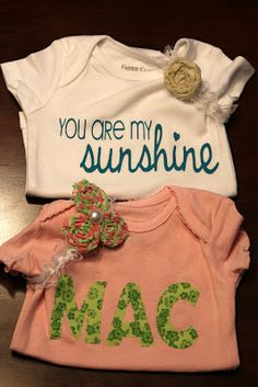 baby onesies using silhouette machine