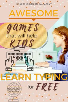 Typing curriculum your kids can use at home for FREE! #typing #homeschool #homeschoolcurriculum #typingcurriculum