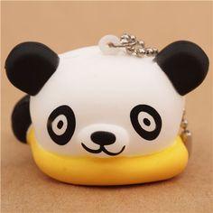 relaxing pillow panda bear squishy cellphone charm kawaii 1
