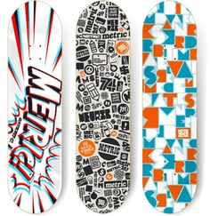 8c03e552555601 Skateboard design. I like the way the logotype on the left has impact look  to