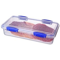 Keep Cold Cuts, Cheese And Deli Meats Fresh Inside The Sistema Klip IT Deli  Storer. A Removable Rack Inside The Clear Container Elevates Food So Air ...