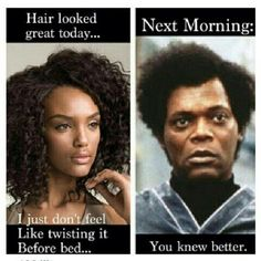 I couldn't resist pinning this....fortunately I don't have to retwist to maintain my style.