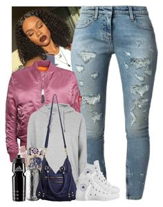 """""""""""Got up, thank the Lord for the day"""""""" by jemilaa ❤ liked on Polyvore featuring Faith Connexion, Alpha Industries, Topshop, Converse, Origins, Casetify, Linea Pelle and adidas"""