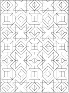 Welcome to Dover Publications Creative Haven Geometric Allover Patterns Coloring Book: