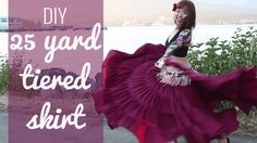 DIY 25 Yard Skirt - Easiest & Cheapest! Gypsy/ATS/Belly Dancing Tiered Skirt