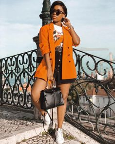 Blazer Outfits, Sporty Outfits, Classy Outfits, Stylish Outfits, Girl Outfits, Fashion Outfits, Womens Fashion, Black Girl Fashion, Fashion Looks