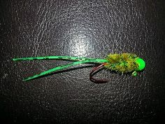 "Up for Auction on Ebay. Bid Now! click here 4pack 1\16oz ""Hotshotz"" Crappie Jigs Green/SwampMoss/Green by Jiganomics"