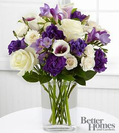 Today's Boquet (F) picasso calla lilie, lavender freesia, deep purple lisianthus and spray roses