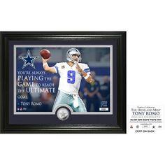 "Tony Romo ""Quote"" Silver Coin Photo Mint"