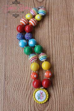 Yo Gabba Gabba Chunky Necklace by sarahsbabyemporium on Etsy, $18.00