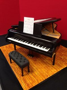 Grand Piano Cake with Side View  http://www.joscakesandcatering.com/special-occasion-cake-gallery/