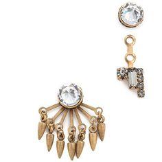 Elizabeth Cole Joslyn Earrings ($120) ❤ liked on Polyvore featuring jewelry, earrings, golden neutral, golden jewelry, fringe earrings, gold plated earrings, 24k earrings and 24k jewelry
