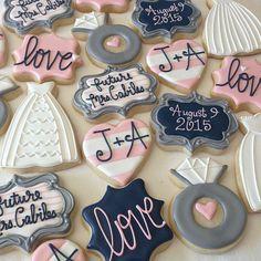 Fancy Cookies, Cute Cookies, Royal Icing Cookies, Yummy Cookies, Sugar Cookies, Bachlorette Cakes, Bachelorette Cookies, Bachelorette Party Games, Wedding Shower Cookies