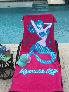 Mermaid Life Sweetie Caps, beach towels and accessories