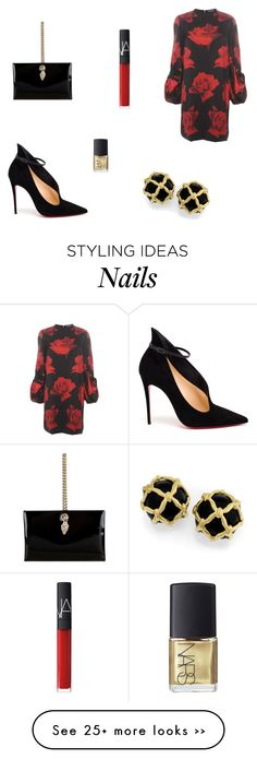 """""""Untitled #5171"""" by mie-miemie on Polyvore featuring Alexander McQueen, Christian Louboutin, Roberto Cavalli and NARS Cosmetics"""